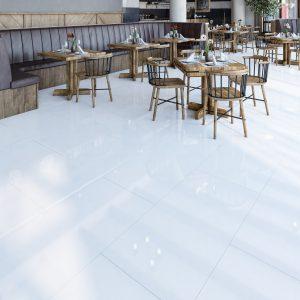 Marginal White Polished Porcelain 600x600